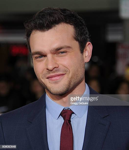 Actor Alden Ehrenreich arrives at the premiere of Universal Pictures' Hail Caesar at Regency Village Theatre on February 1 2016 in Westwood California