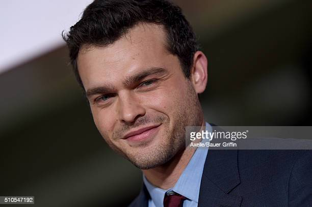 Actor Alden Ehrenreich arrives at the premiere of Universal Pictures' 'Hail Caesar' at Regency Village Theatre on February 1 2016 in Westwood...