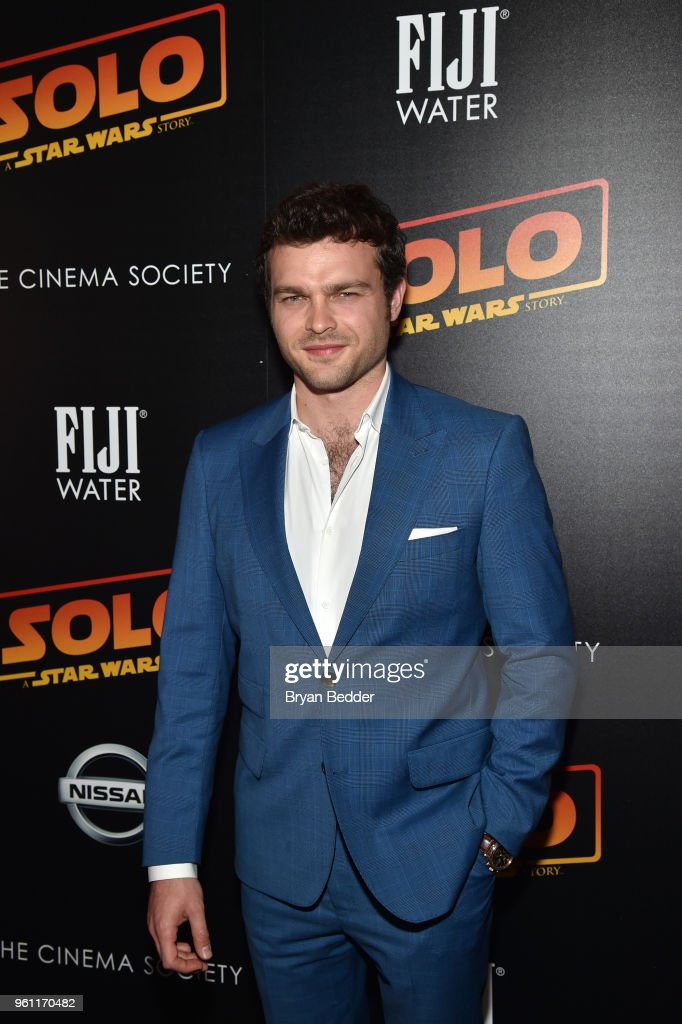 Actor Alden Ehrenreich attends FIJI Water with the Cinema Society host a screening of 'Solo: A Star Wars Story' at SVA Theater on May 21, 2018 in New York City.