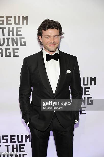 Actor Alden Ehrenreich attends Museum Of The Moving Image 30th Annual Salute honoring Warren Beatty at 583 Park Avenue on November 2 2016 in New York...