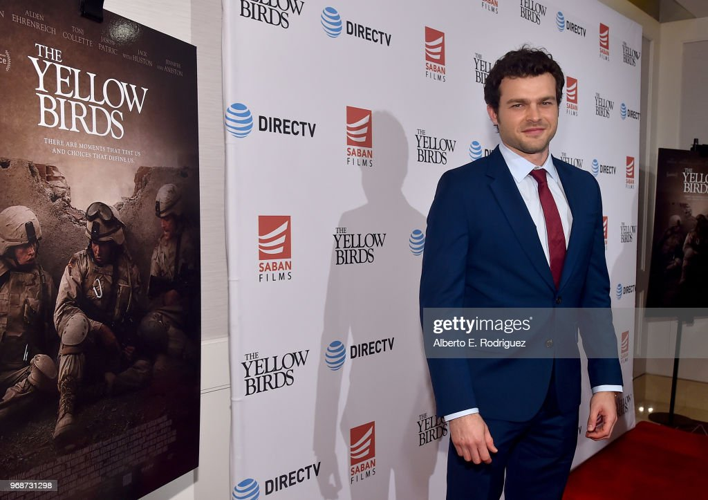 Actor Alden Ehrenreich attends Saban Films' And DirecTV's Special Screening Of 'Yellow Birds' at The London Screening Room on June 6, 2018 in West Hollywood, California.