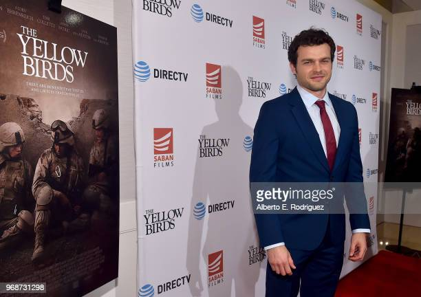 Actor Alden Ehrenreich attends Saban Films' And DirecTV's Special Screening Of 'Yellow Birds' at The London Screening Room on June 6 2018 in West...