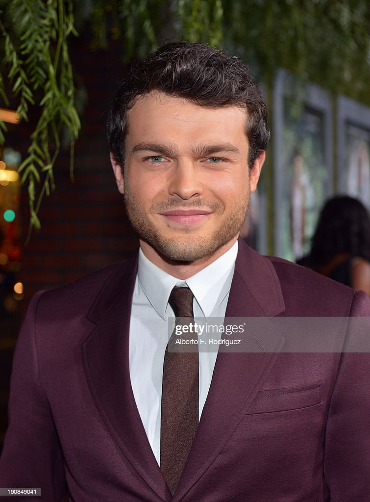 Actor Alden Ehrenreich attends the Los Angeles premiere of Warner Bros. Pictures' 'Beautiful Creatures' at TCL Chinese Theatre on February 6, 2013 in Hollywood, California.