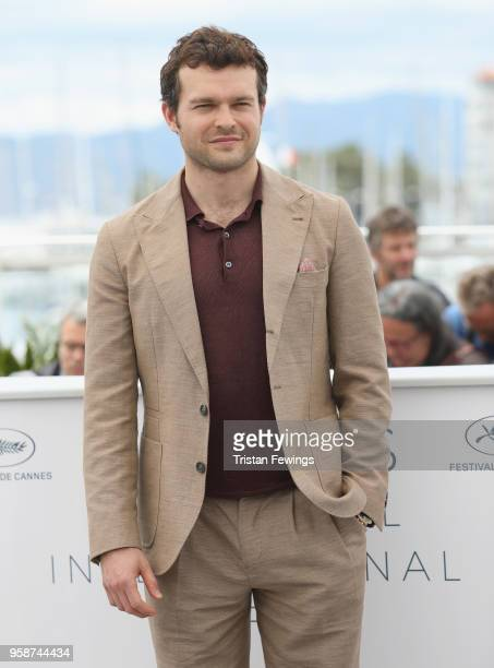 Actor Alden Ehrenreich attends the photocall for Solo A Star Wars Story during the 71st annual Cannes Film Festival at Palais des Festivals on May 15...