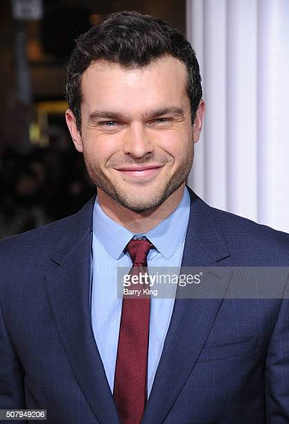Actor Alden Ehrenreich attends the Premiere of Universal Pictures' 'Hail Caesar' at the Regency Village Theatre on February 1 2015 in Westwood...