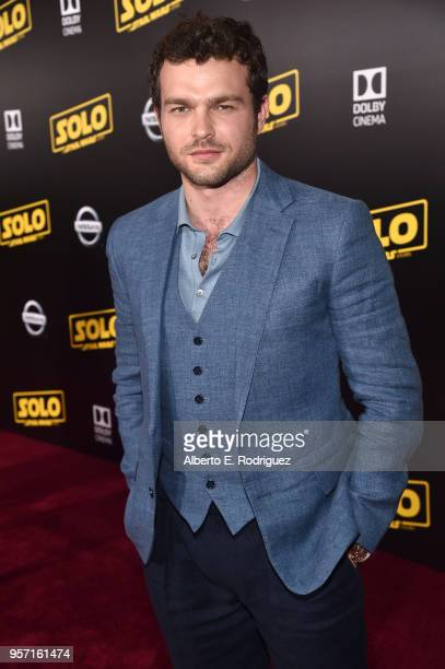 "Actor Alden Ehrenreich attends the world premiere of ""Solo A Star Wars Story"" in Hollywood on May 10 2018"