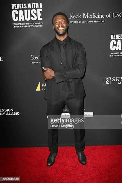 Actor Aldis Hodge arrives at the 3rd Biennial Rebels with a Cause Fundraiser on May 11 2016 in Santa Monica California