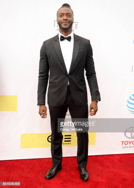 Actor Aldis Hodge arrives at the 48th NAACP Image Awards at Pasadena Civic Auditorium on February 11 2017 in Pasadena California