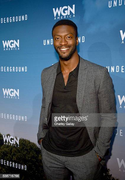 Actor Aldis Hodge attends a screening of WGN America's 'Underground' as part of the Awardsline Screening Series at Landmark Theatre on June 7 2016 in...