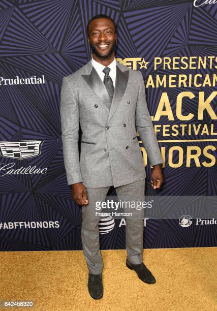 Actor Aldis Hodge attends BET Presents the American Black Film Festival Honors on February 17 2017 in Beverly Hills California