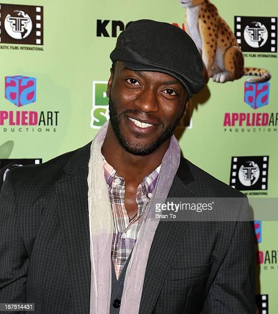Actor Aldis Hodge attends Delhi Safari Los Angeles premiere at Pacific Theatre at The Grove on December 3 2012 in Los Angeles California