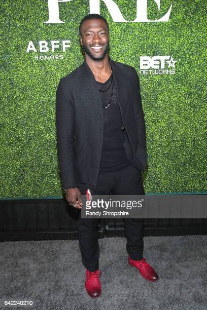 Actor Aldis Hodge attends Pre ABFF Honors Cocktail Party hosted by Debra L Lee Jeff Friday at Cecconi's on February 16 2017 in West Hollywood...