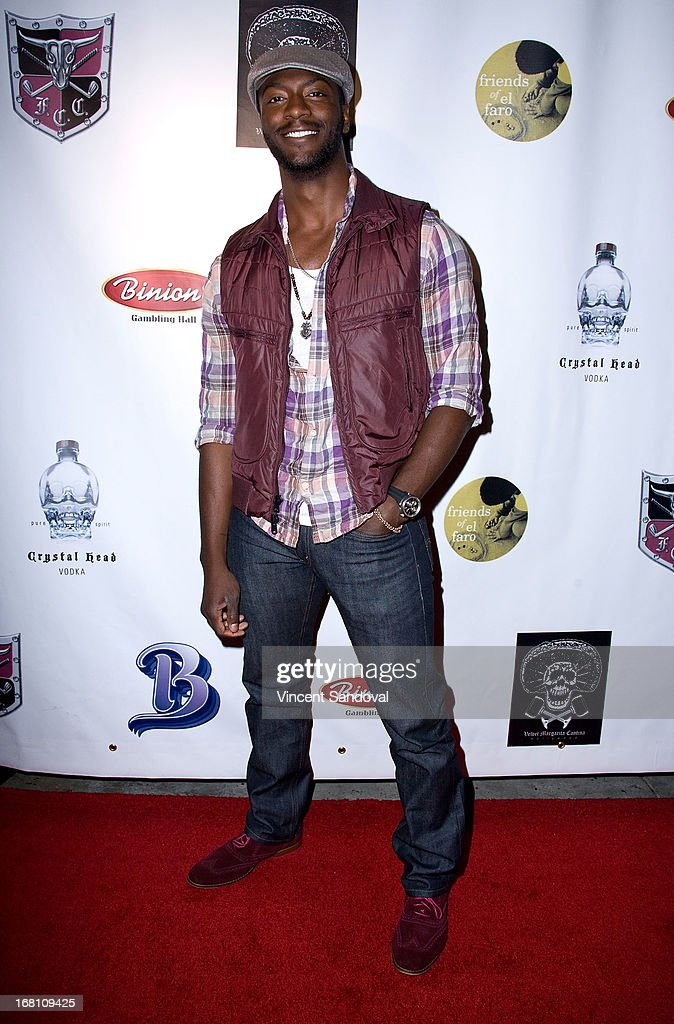 Actor Aldis Hodge attends the 10th annual anniversary and Cinco De Mayo benefit with annual Charity Celebrity Poker Tournament at Velvet Margarita on May 4, 2013 in Hollywood, California.
