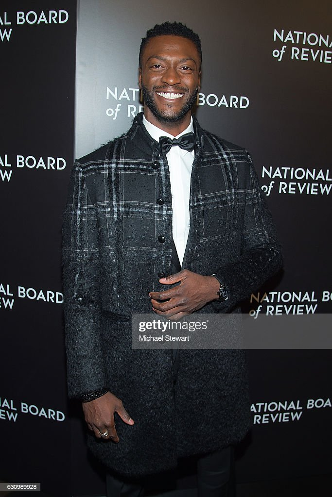 Actor Aldis Hodge attends the 2016 National Board of Review Gala at Cipriani 42nd Street on January 4, 2017 in New York City.
