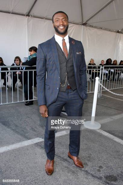 Actor Aldis Hodge attends the 2017 Film Independent Spirit Awards at the Santa Monica Pier on February 25 2017 in Santa Monica California