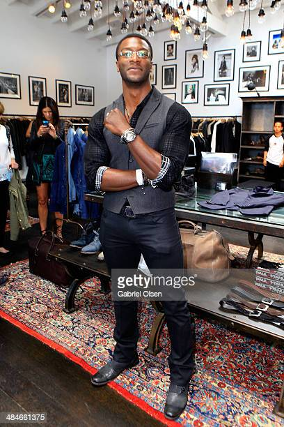 Actor Aldis Hodge attends the John Varvatos 11th Annual Stuart House Benefit presented by Chrysler Kids Tent by by Hasbro at John Varvatos Boutique...
