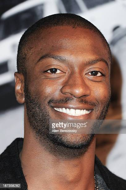Actor Aldis Hodge attends the John Varvatos' new book 'John Varvatos Rock In Fashion' launch party at John Varvatos Los Angeles on November 7 2013 in...