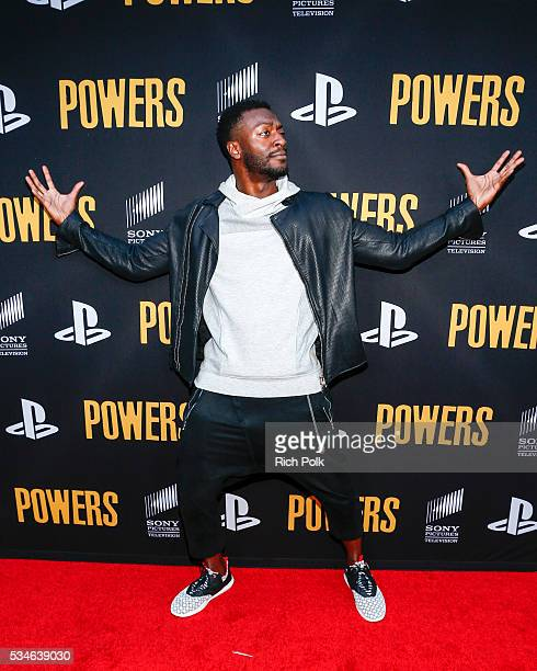 Actor Aldis Hodge attends the Powers Premiere at ArcLight Cinemas on May 26 2016 in Culver City California