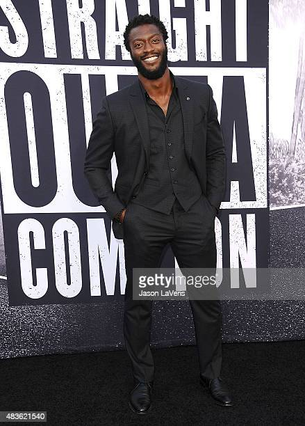 Actor Aldis Hodge attends the premiere of 'Straight Outta Compton' at Microsoft Theater on August 10 2015 in Los Angeles California
