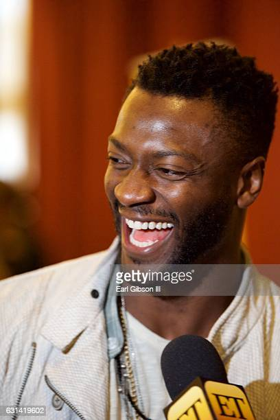 Actor Aldis Hodge attends the LA Promise Fund Screening Of Hidden Figures at USC Galen Center on January 10 2017 in Los Angeles California