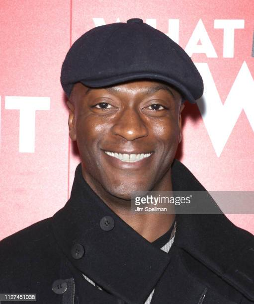 Actor Aldis Hodge attends the special screening Of What Men Want hosted by Paramount Pictures at Crosby Street Hotel on February 04 2019 in New York...