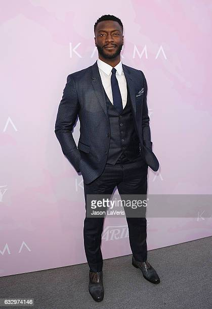 Actor Aldis Hodge attends Variety's celebratory brunch event for awards nominees benefitting Motion Picture Television Fund at Cecconi's on January...