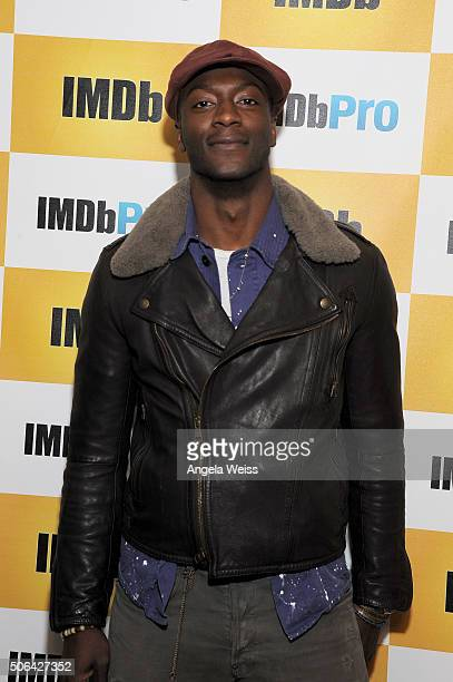 Actor Aldis Hodge in The IMDb Studio In Park City Utah Day Two on January 23 2016 in Park City Utah