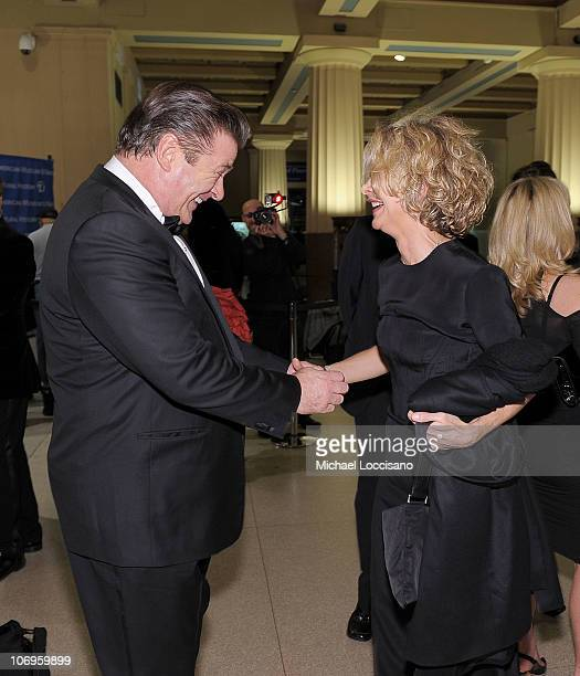 Actor Alec Baldwin and actress Meg Ryan attend the American Museum of Natural History's 2010 Museum Gala at the American Museum of Natural History on...