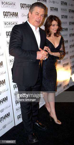 Actor Alec Baldwin and Actress Tina Fey attend Gotham Magazine's 8th Annual Gala on February 12 2008 in New York City New York