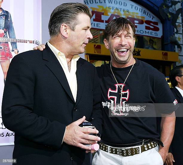Actor Alec Baldwin and brother Stephen Baldwin arrive at the premiere of the Disney film Freaky Friday at the El Capitan theater August 4 2003 in...