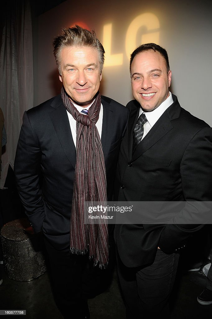 Actor Alec Baldwin and CAA agent Matt DelPiano attend CAA Sports Super Bowl Party presented By LG at Contemporary Arts Center on February 2, 2013 in New Orleans, Louisiana.