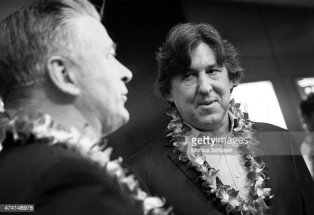 Actor Alec Baldwin and director Cameron Crowe attend the Aloha New York Screening at Sony Screening Room on May 20 2015 in New York City