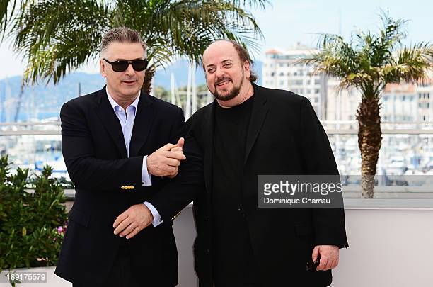 Actor Alec Baldwin and director James Toback attend the photocall for 'Seduced and Abandoned' during The 66th Annual Cannes Film Festival at Palais...