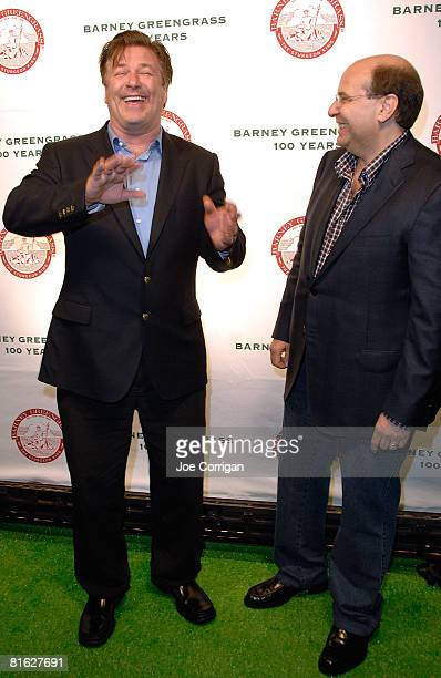 Actor Alec Baldwin and Gary Greengrass are seen during the Barney Greengrass celebration of 100 years on June 18 2008 at Barney Greengrass in New...