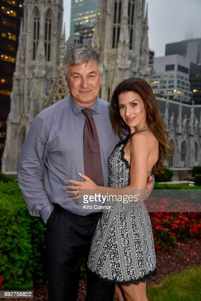 Actor Alec Baldwin and Hilaria Baldwin attend the Hamptons International Film Festival 25th Anniversary Kick Off Event at 620 Loft Garden on June 5...
