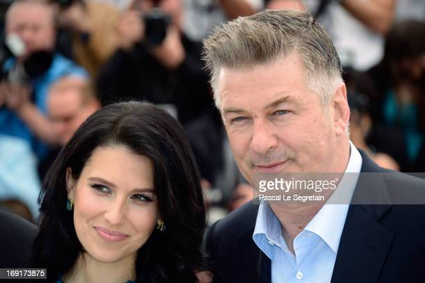 Actor Alec Baldwin and Hilaria Baldwin attend the 'Seduced And Abandoned' Photocall during The 66th Annual Cannes Film Festival at the Palais des...