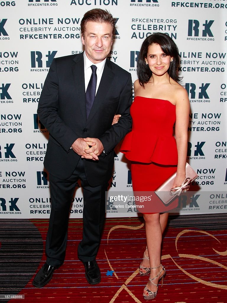Actor Alec Baldwin and Hilaria Baldwin attends the Robert F. Kennedy Center for Justice and Human Rights 2012 Ripple of Hope gala at The New York Marriott Marquis on December 3, 2012 in New York City.