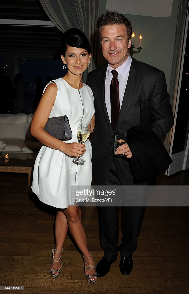 Actor Alec Baldwin and Hilaria Thomas and attend the Vanity Fair And Gucci Party during the 65th Annual Cannes Film Festival at Hotel Du Cap on May 19, 2012 in Antibes, France.