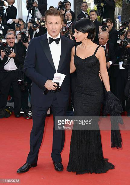 Actor Alec Baldwin and Hilaria Thomas arrive at Electrolux at Opening Night of The 65th Annual Cannes Film Festival at the Palais des Festivals on...