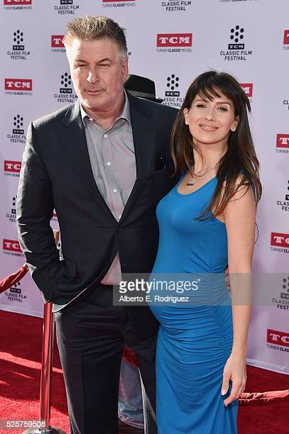 Actor Alec Baldwin and Hilaria Thomas attend 'All The President's Men' premiere during the TCM Classic Film Festival 2016 Opening Night on April 28...