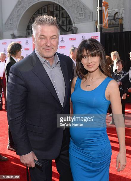 Actor Alec Baldwin and Hilaria Thomas attend 'All The President's Premiere' during the TCM Classic Film Festival 2016 Opening Night on April 28 2016...