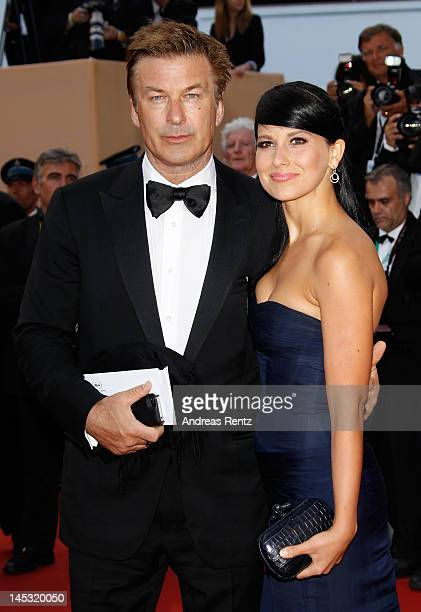 Actor Alec Baldwin and Hilaria Thomas attend the 'Mud' Premiere during the 65th Annual Cannes Film Festival at Palais des Festivals on May 26 2012 in...
