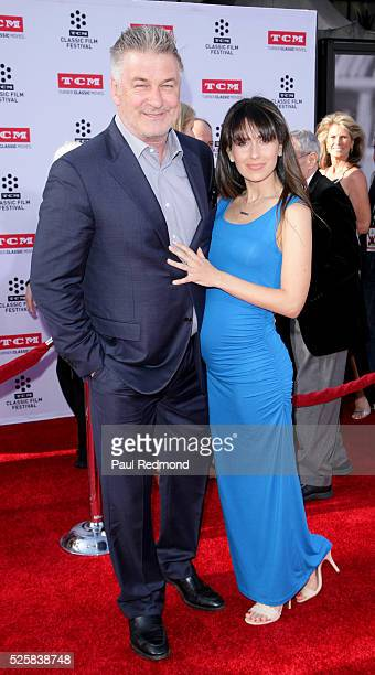 """Actor Alec Baldwin and his wife Hilaria Baldwin arriving at the TCM Classic Film Festival 2016 Opening Night Gala 40th Anniversary Screening Of """"All..."""