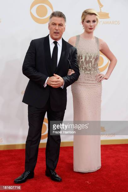 Actor Alec Baldwin and Ireland Baldwin arrive at the 65th Annual Primetime Emmy Awards held at Nokia Theatre LA Live on September 22 2013 in Los...