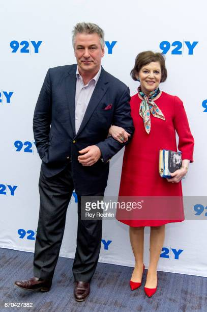 Actor Alec Baldwin and journalist Janet Maslin attend Alec Baldwin in Conversation with Janet Maslin at 92nd Street Y on April 19 2017 in New York...