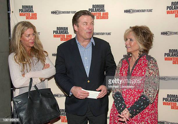 Actor Alec Baldwin and President of HBO Original Programming Sheila Nevins attend the HBO Documentaries premiere Of Roman Polanski Wanted And Desired...