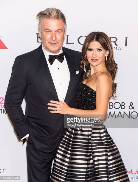 Actor Alec Baldwin and wife Hilaria Baldwin attend as the Elton John AIDS Foundation commemorates its 25th year and honors founder Sir Elton John...