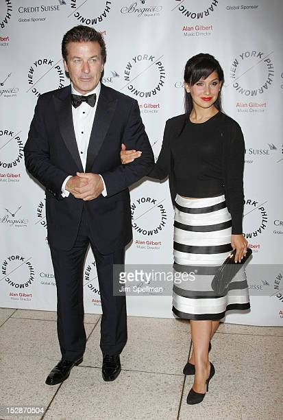 Actor Alec Baldwin and wife Hilaria Lynn Thomas attends the New York Philharmonic 171st Season Opening Night Gala at Avery Fisher Hall at Lincoln...