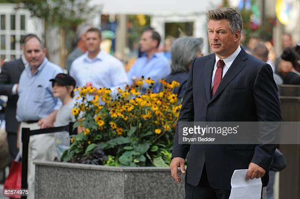 Actor Alec Baldwin appears on location during a taping for '30 Rock' at Rockefeller Center August 27 2008 in New York City