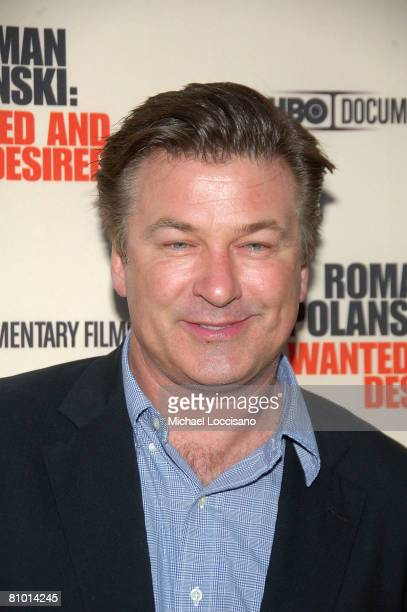 Actor Alec Baldwin attends the HBO Documentaries premiere Of Roman Polanski Wanted And Desired at The Paris Thatre in New York City on May 6 2008